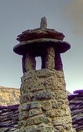 Typical stone chimney