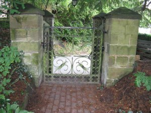 Not our garden gate, but I like this one! (from Wiki commons)