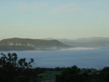 Mist after rain