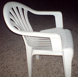plastic garden chair