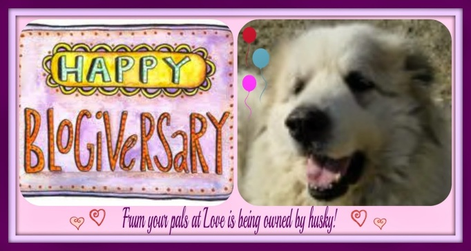 Card for blog anniversary