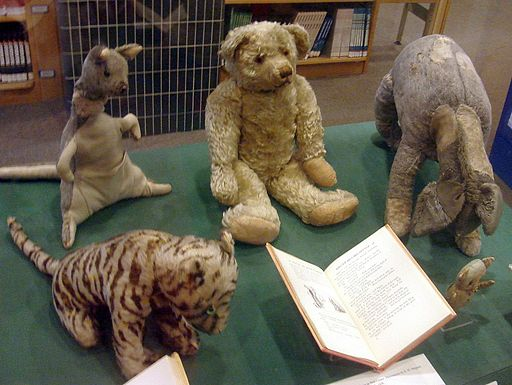 Tigger and the other Winnie-the Pooh stuffed toys