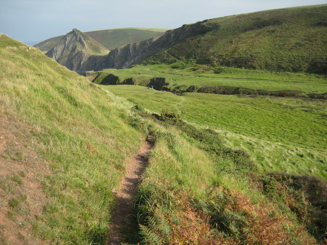 Another view of the path at Speke's Mill Mouth