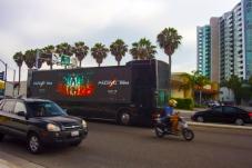 Pacific Rim on Zeusvision digital media bus, Marina Del Rey, CA